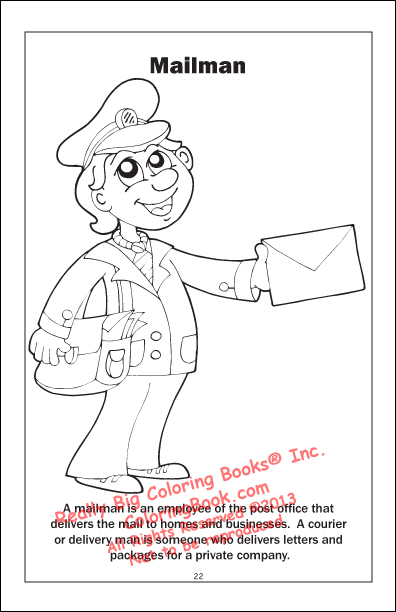 Bee Keeper Coloring Page Mailman
