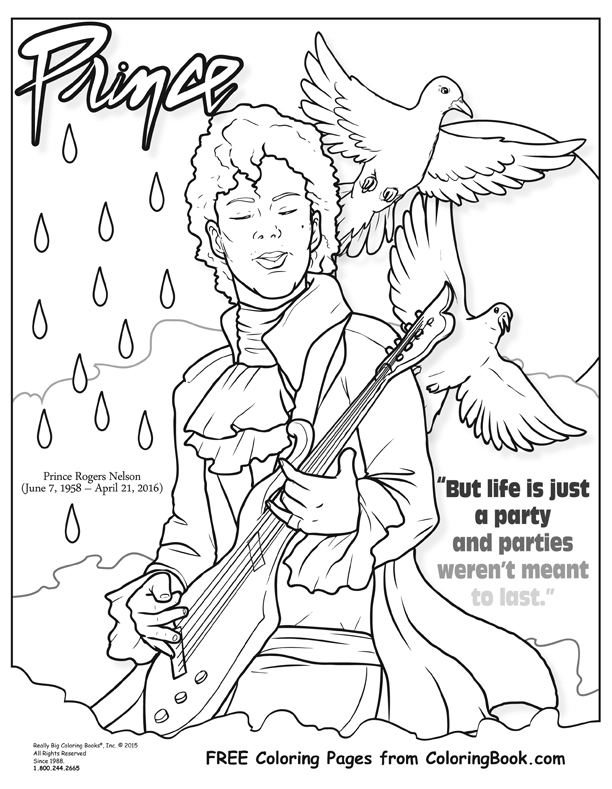 Coloring Books | Prince Free Online Coloring Page