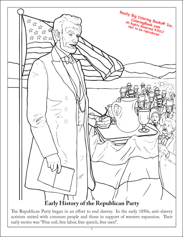 Coloring Books | The Republican Party: The Grand Old Party Coloring ...