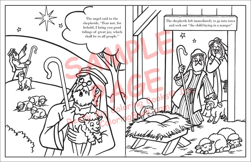 The Real Story Of Christmas Biblical LapTop Coloring BooksR 17 Wide X 11 Tall