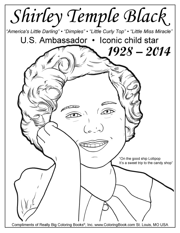 Coloring Books | Shirley Temple Black Free Coloring Page