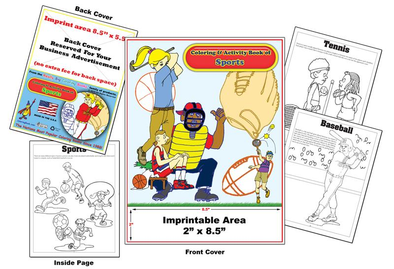 Coloring Books | Custom Imprint Promotional Coloring Books Sports