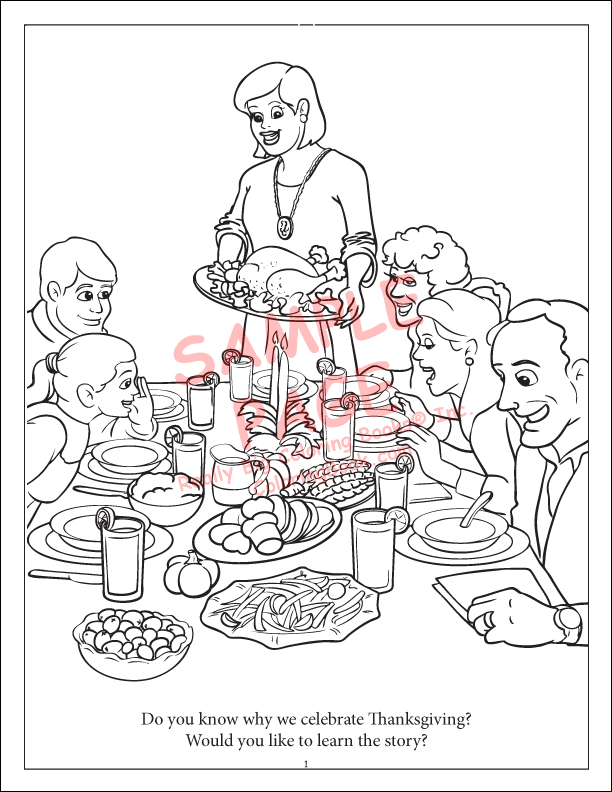 Thanksgiving Coloring Book Feast Page