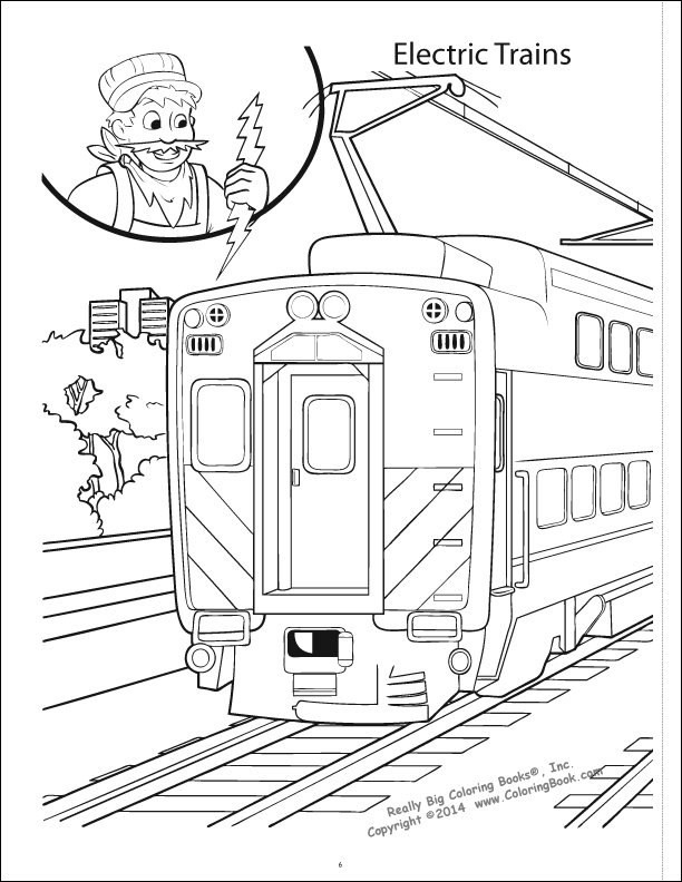 Coloring Books | Trains Really Big Coloring Book