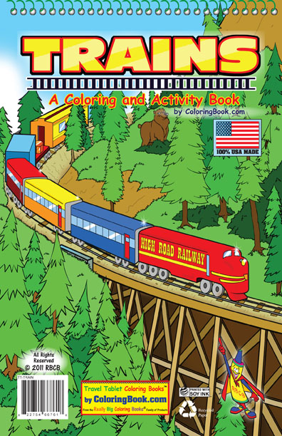 Coloring Books | Trains Travel Tablet