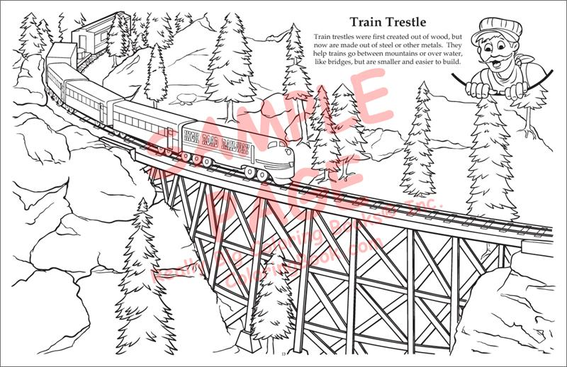 Coloring Books | Train LapTop Coloring Books