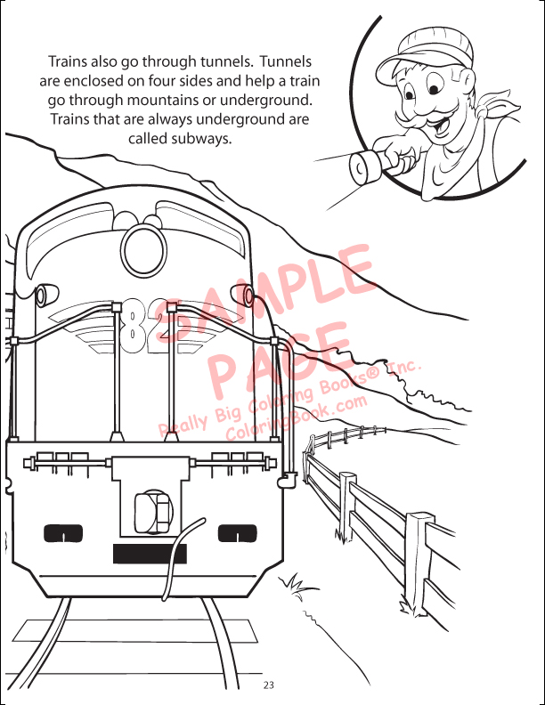 Coloring Books | Trains Power Panel Coloring Book
