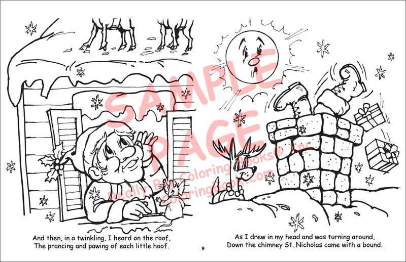 picture relating to Twas the Night Before Christmas Printable Book called Coloring Guides Twas the Evening Prior to Xmas