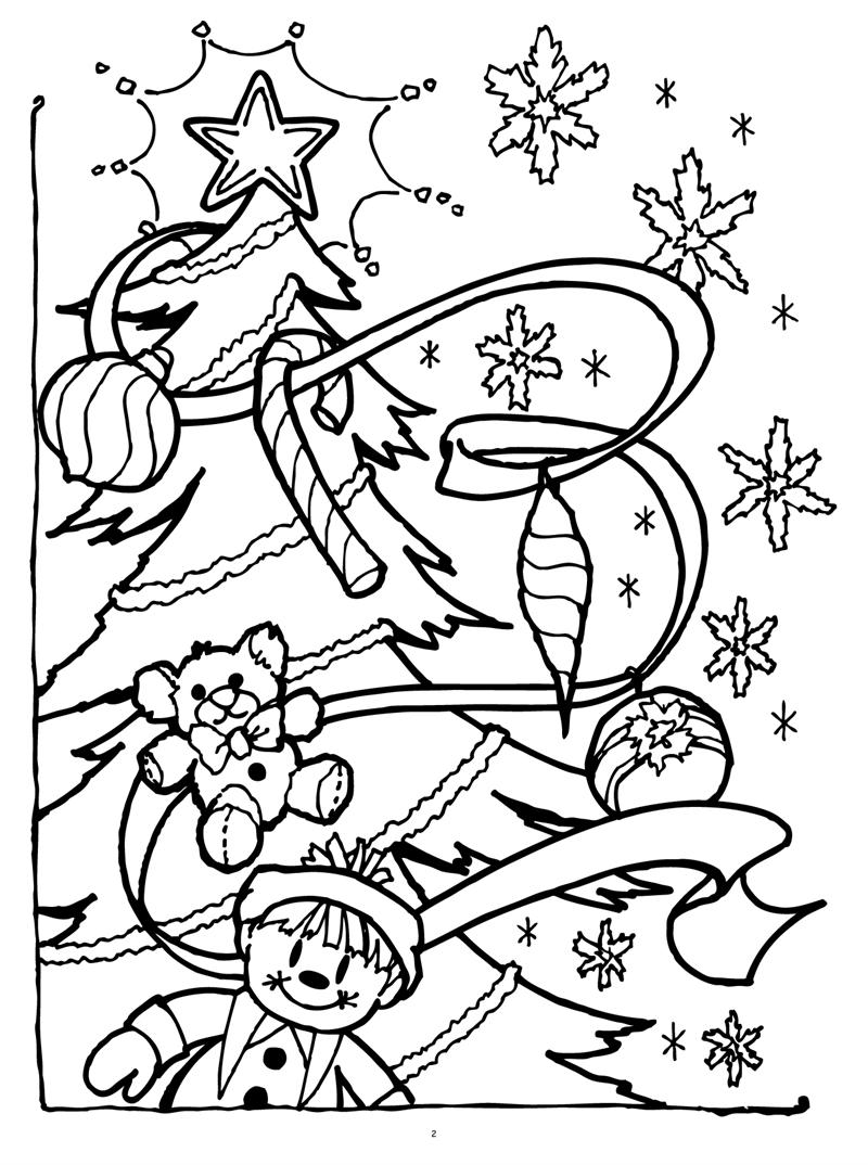 christmas coloring book page - Selo.l-ink.co
