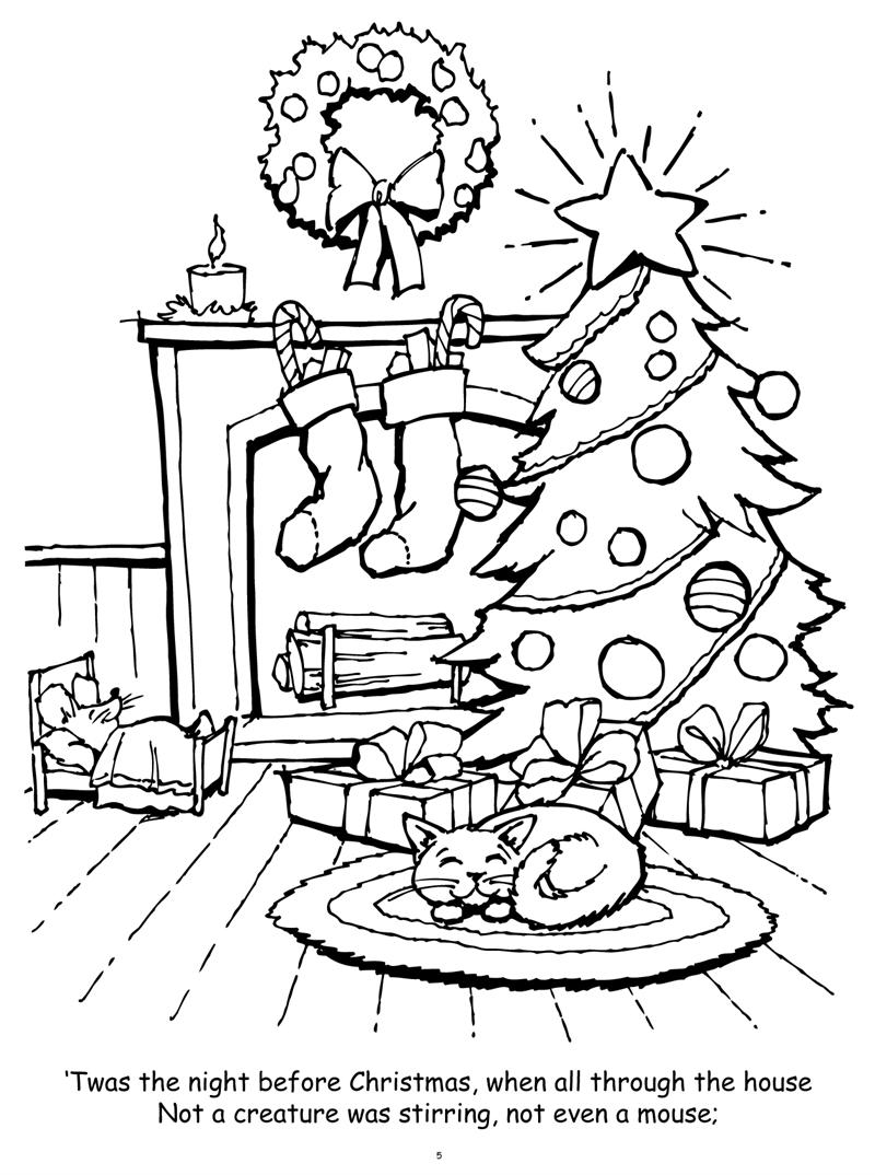 Coloring Books | Twas Night Before Christmas Really Big ...