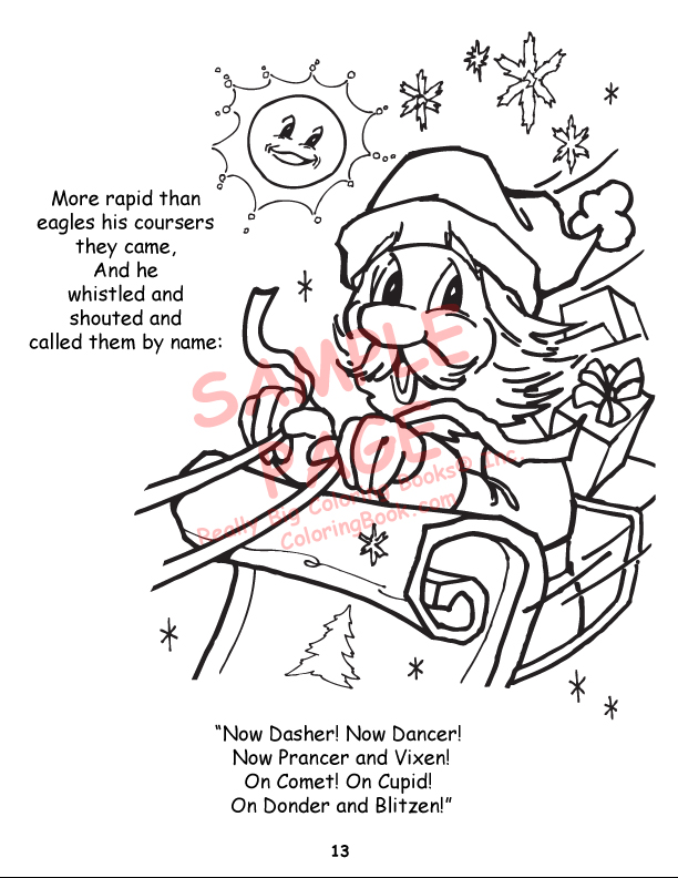 image about Twas the Night Before Christmas Printable Book named Coloring Guides Twas the Evening in advance of Xmas Electrical power Panel