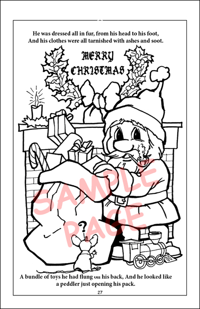 Coloring Books | Twas the Night before Christmas Travel Tablet