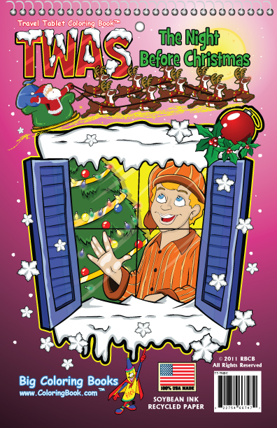 Coloring Books Twas The Night Before Christmas Travel Tablet