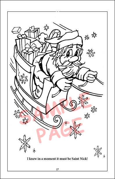 Coloring books twas the night before christmas travel tablet for The night before christmas coloring pages