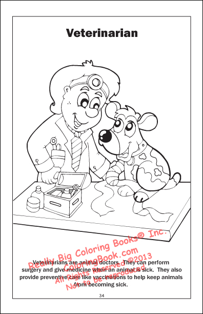 veterinarian office coloring pages - photo#7