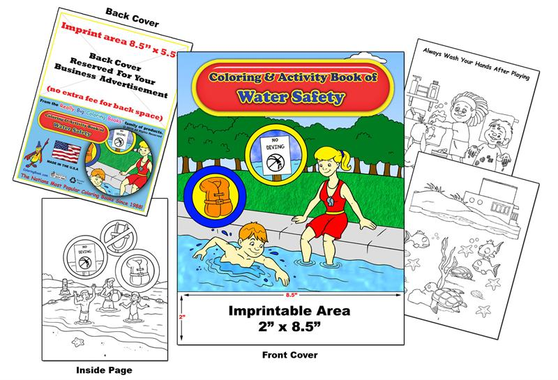 Coloring Books | Custom Imprint Promotional Coloring Books Water Safety