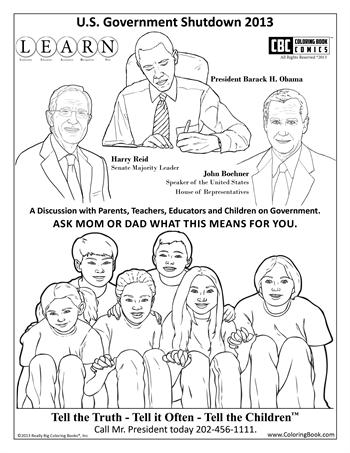 Free Government Shutdown Coloring Page