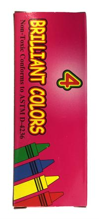 4 ct. Global Standard boxed crayons