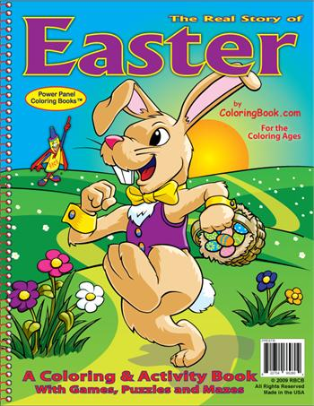Easter Power Panel Coloring Book