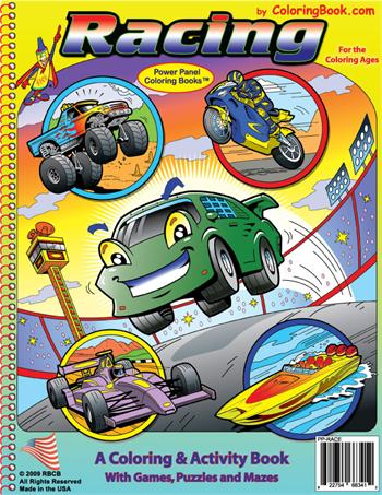 Racing Power Panel Coloring Book