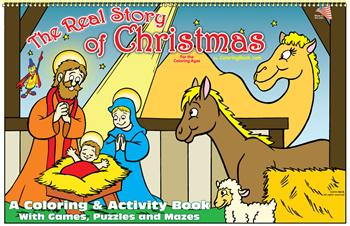 The Real Story of Christmas LapTop Coloring Book