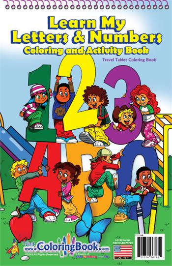 ABC-123 Learn My Alphabet Travel Tablet Coloring Book