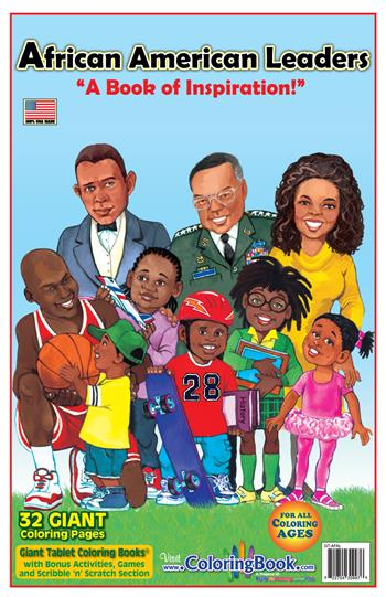 African American Leaders Giant Tablet Coloring Book