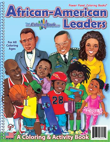 African American Leaders Power Panel Coloring Books