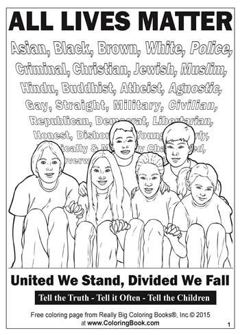 All Lives Matter - Free Online Coloring Pages 1