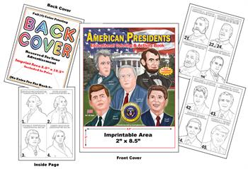 American Presidents - Imprintable Coloring & Activity Book