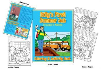 Billy's First Summer Job Coloring & Activity Book