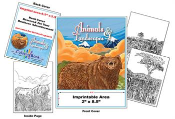 Animals & Landscapes - Imprintable Coloring & Activity Book