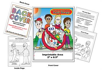 Anti Drugs - Imprintable Coloring & Activity Book