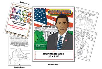 President Obama 2 Imprintable Coloring & Activity Book