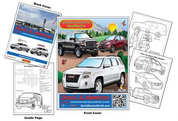 "Buick-GMC"" Imprintable Coloring & Activity Book"