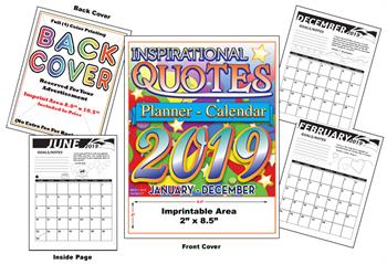 Inspirational Quotes Calendar - Imprintable Coloring & Activity Book