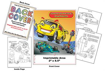 Cars - Imprintable Coloring & Activity Book