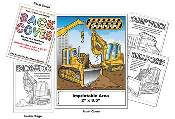 Construction - Imprintable Coloring & Activity Book