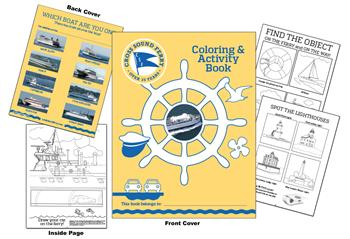 Cross Sound Ferry Custom Coloring Book