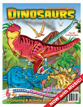 Dinosaurs Power Panel Coloring Book with Song