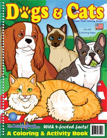 Dogs and Cats Power Panel Coloring Book