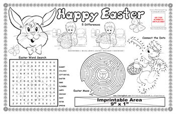 "Easter Colorable Placemat with ""Easter Cottontail"" Song"