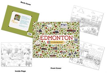 Edmonton Colouring Book by Jason Blower