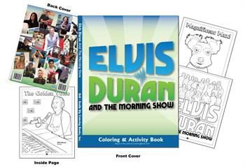 Elvis Duran and the Morning Show Custom Coloring Book