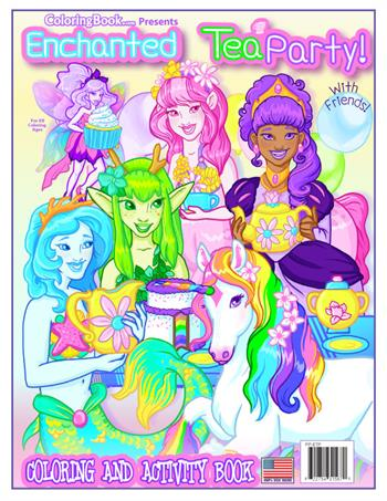 Enchanted Tea Party with Friends Coloring Book