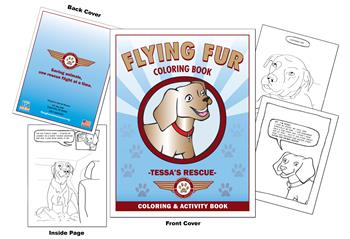 Flying Fur - Tessa's Rescue Coloring Book