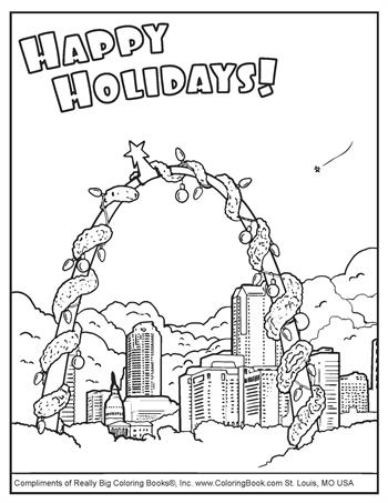 Free Online Coloring Pages - Happy Holidays