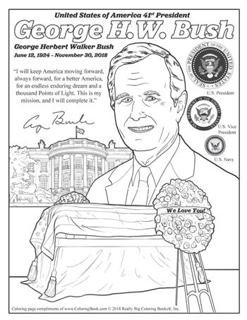 George H.W. Bush - Free Online Coloring Pages
