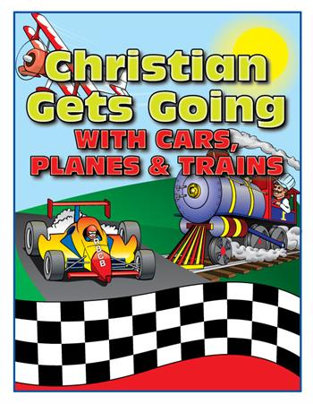 Personalized Get Going with Cars, Planes and Trains Coloring Book