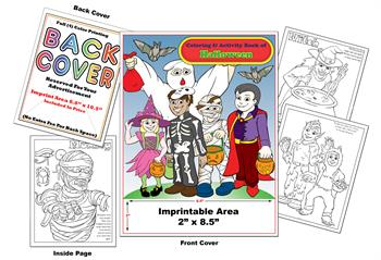 Halloween - Imprintable Coloring & Activity Book